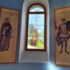 Print icoane autocolant vitralii aplicat pe geam