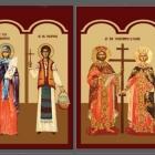 Icoane bizantine imprimate pe autocolant si aplicate pe