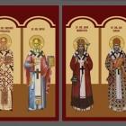 Icoane bizantine printate pe folie autocolant aplicate pe