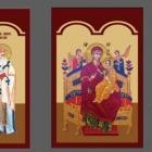 Icoane bizantine printate pe autocolant aplicate pe suport PVC