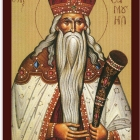 Icoane bizantine sinaxar tiparite pe carton