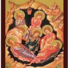Icoane bizantine - praznice - tiparite pe carton infoliate