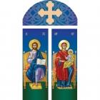 Maica Domnului si Iisus Hristos Arhiereu pe Tron