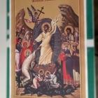 Print folie autocolant aplicat pe placa PVC - Invierea-Domnului