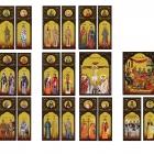 Colaj Icoane bizantine printate pe banner