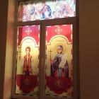 Lucrari de vitralii  la capela liceu Turda, Cluj