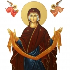 Maica Domnului inconjurata de ingeri