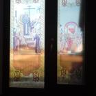 Print folie vitralii aplicate pe geam