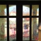Print folie autocolant vitralii aplicate pe geam