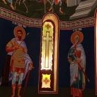 Icoane bizantine printate pe autocolant vitralii aplicate pe geam