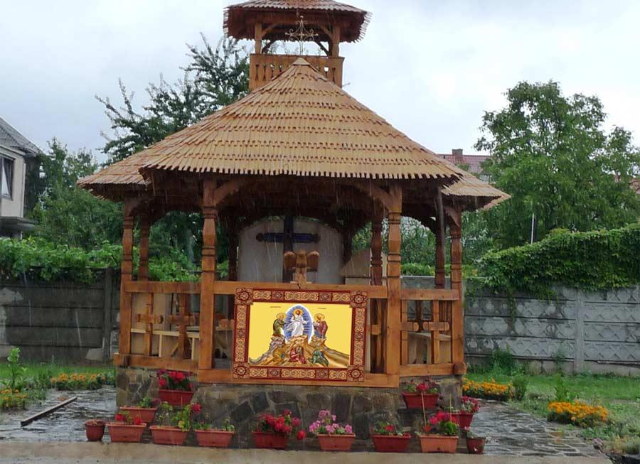 Print icoane altar vara pe Mesh banner