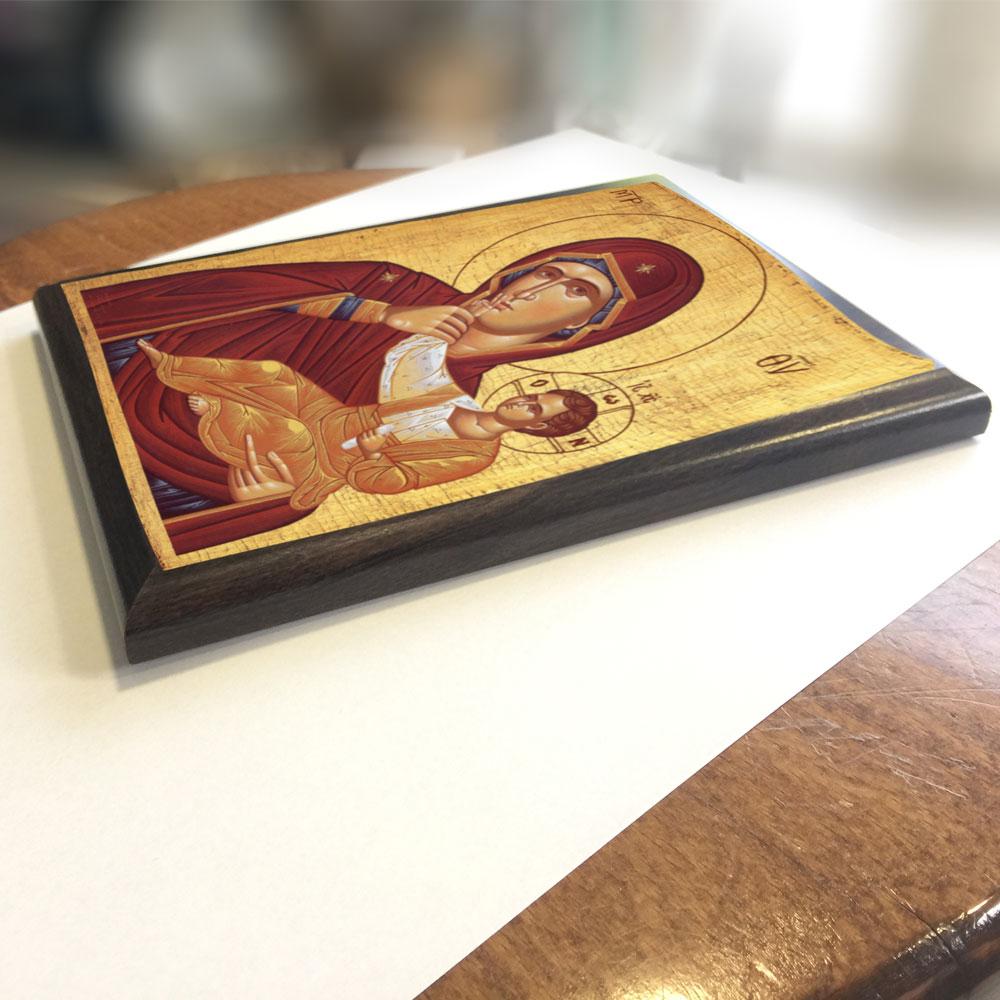 Icoane autocolant aplicate pe suport lemn, PVC sau sticla