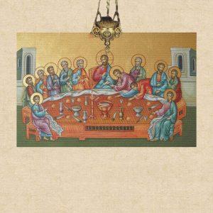 Icoane bizantine imprimate pe tapet sau panza pentru aplicare pe perete sau tavan