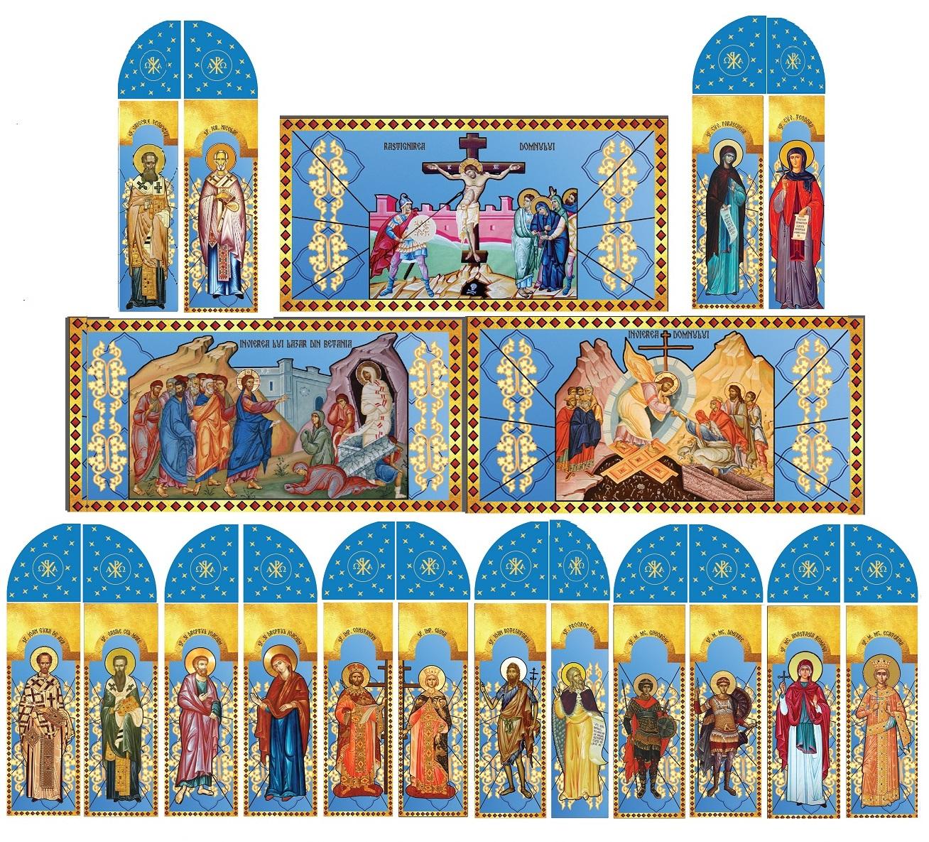 Vitralii la Parohia Bogata, jud Mures