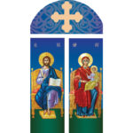 Domnul Iisus Hristos si Maica Domnului pe tron