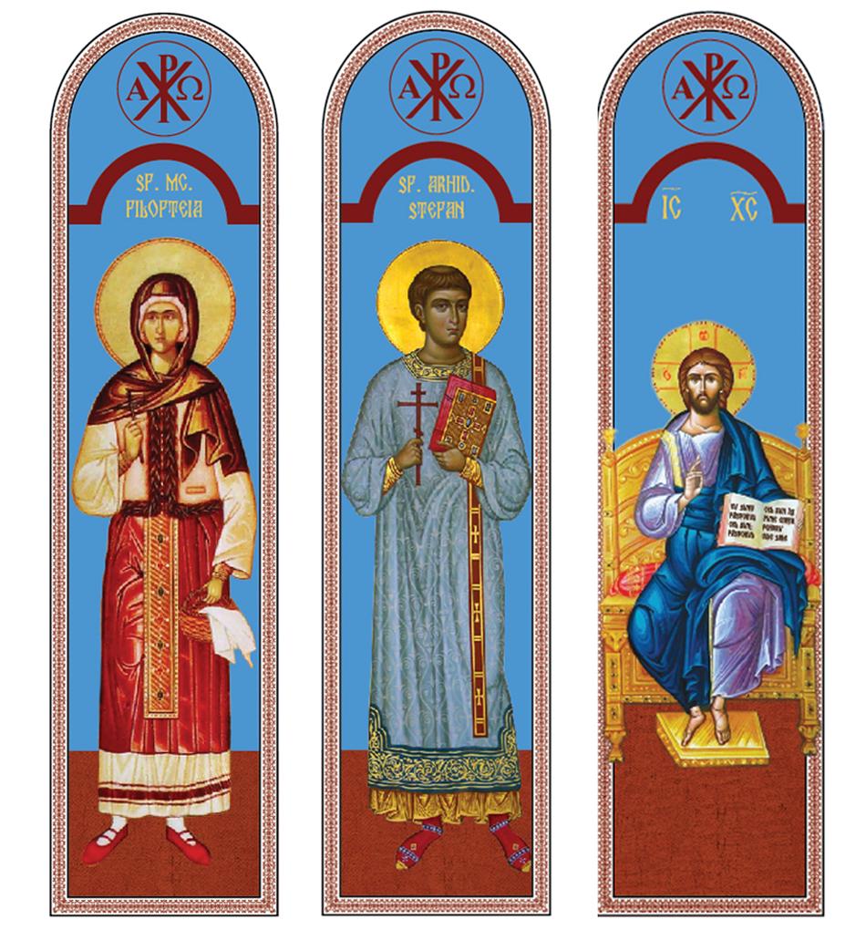 Vitralii la Biserica Ortodoxa Loamnes, jud Sibiu
