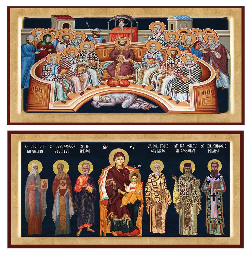 Primul Sinod Ecumenic si-Panou cu MD si Sfinti
